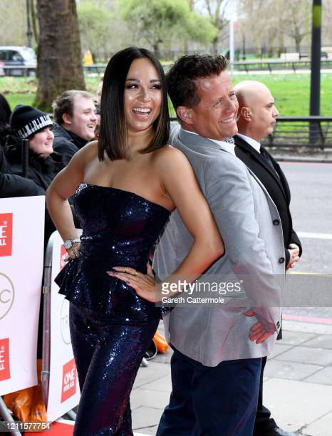 Katya Jones and Mike Bushell attend the TRIC Awards 2020 at The Grosvenor House Hotel on March 10 2020 in London England