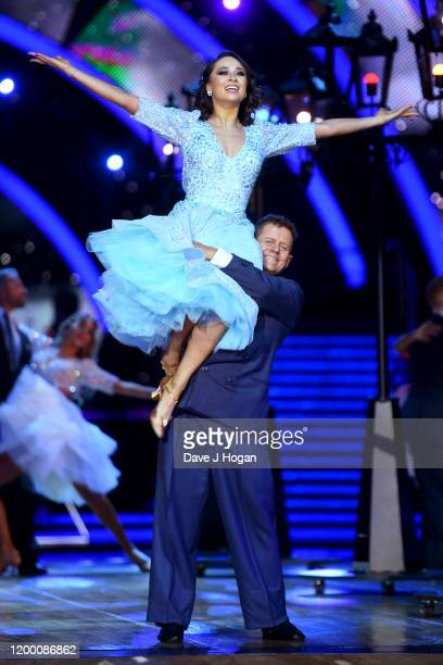 Katya Jones and Mike Bushell during the opening night of the Strictly Come Dancing Arena Tour 2020 at Arena Birmingham on January 16 2020 in...