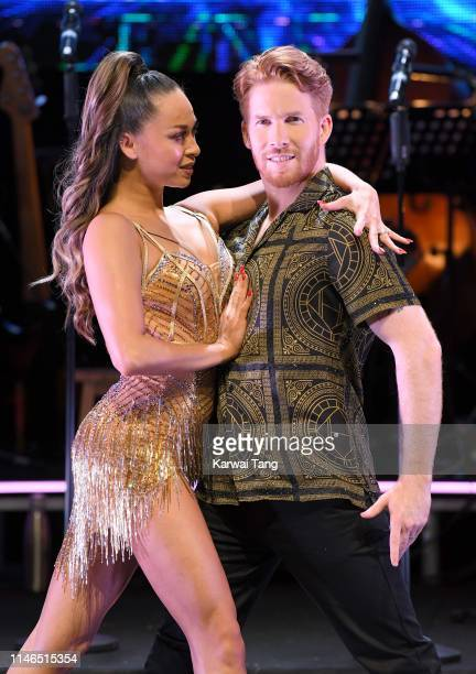 Katya Jones and Neil Jones attend the Strictly Come Dancing The Professionals photocall at Elstree Studios on May 02 2019 in Borehamwood England