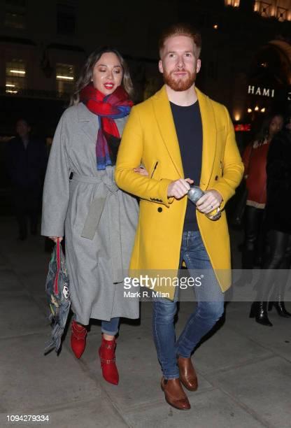 Katya Jones and Neil Jones leaving Hamilton the musical on January 14 2019 in London England