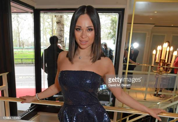 Katya Jones arrives at the TRIC Awards 2020 at The Grosvenor House Hotel on March 10 2020 in London England