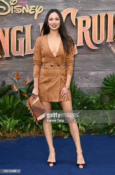"""Katya Jones attends Disney's """"Jungle Cruise"""" UK premiere at Cineworld Leicester Square on July 29, 2021 in London, England."""