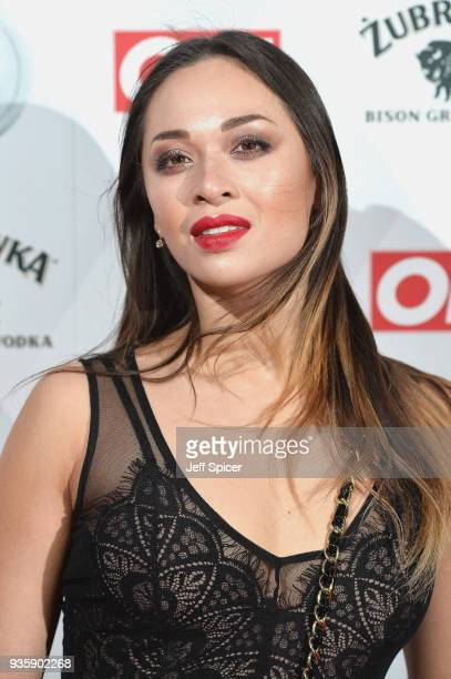Katya Jones attends OK Magazine's 25th Anniversary Party at The View from The Shard on March 21 2018 in London England