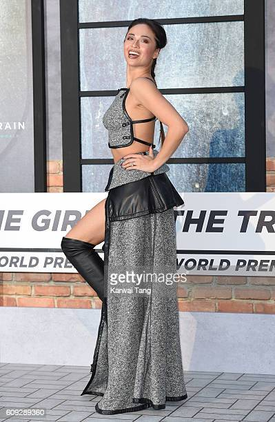 Katya Jones attends The Girl On The Train World Premiere at Odeon Leicester Square on September 20 2016 in London England