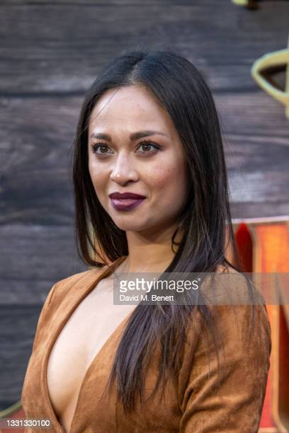 """Katya Jones attends the London Premiere of Disney's """"Jungle Cruise"""" at Cineworld Leicester Square on July 29, 2021 in London, England."""