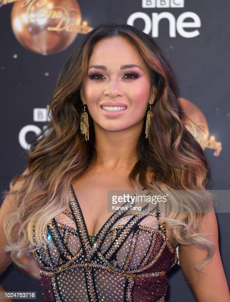 Katya Jones attends the red carpet launch for 'Strictly Come Dancing 2018' at Old Broadcasting House on August 27 2018 in London England