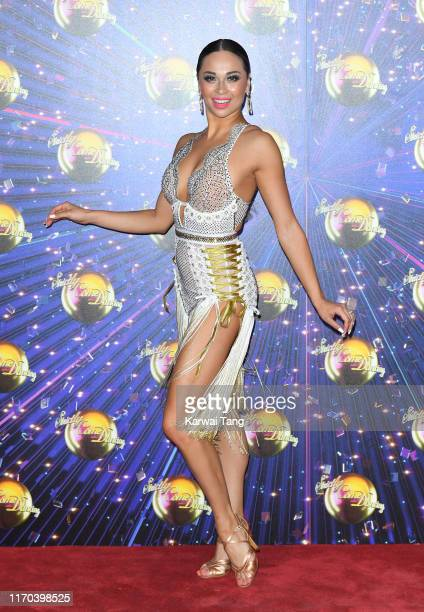 Katya Jones attends the Strictly Come Dancing launch show red carpet arrivals at Television Centre on August 26 2019 in London England