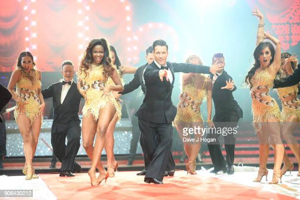 Katya Jones Kevin Clifton Oti Mabuse Gorka Marquez and Janette Manrara attend the 'Strictly Come Dancing' Live photocall at Arena Birmingham on...