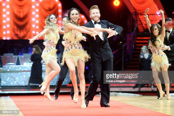 Katya Jones Neil Jones and Janette Manrara attend the 'Strictly Come Dancing' Live photocall at Arena Birmingham on January 18 2018 in Birmingham...