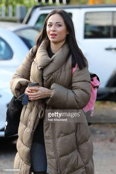Katya Jones seen arriving at a dance studio for Strictly Come Dancing 2020 rehearsals on November 03 2020 in London England