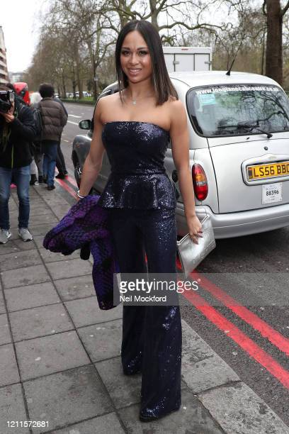 Katya Jones seen arriving for the TRIC Awards at Grosvenor House on March 10 2020 in London England
