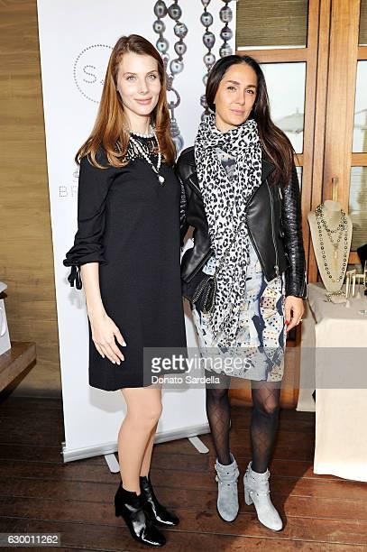 Katya Teper and guest attend Sabine Brouillet's jewelry pop up hosted by Nikita Kahn and Katya Teper at Nobu Malibu on December 14 2016 in Malibu...