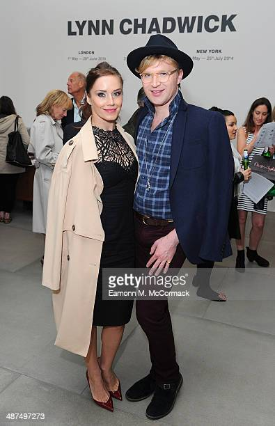 Katya Virshilas and Henry Conway attend the private view for Lynn Chadwick Retrospectives at Blain Southern London on April 30 2014 in London England
