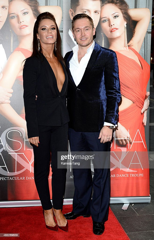 Katya Virshilas and Klaus Kongsdal attend the VIP preview evening for 'Katya & Pasha' held at the Lyric Theatre on April 7, 2014 in London, England.