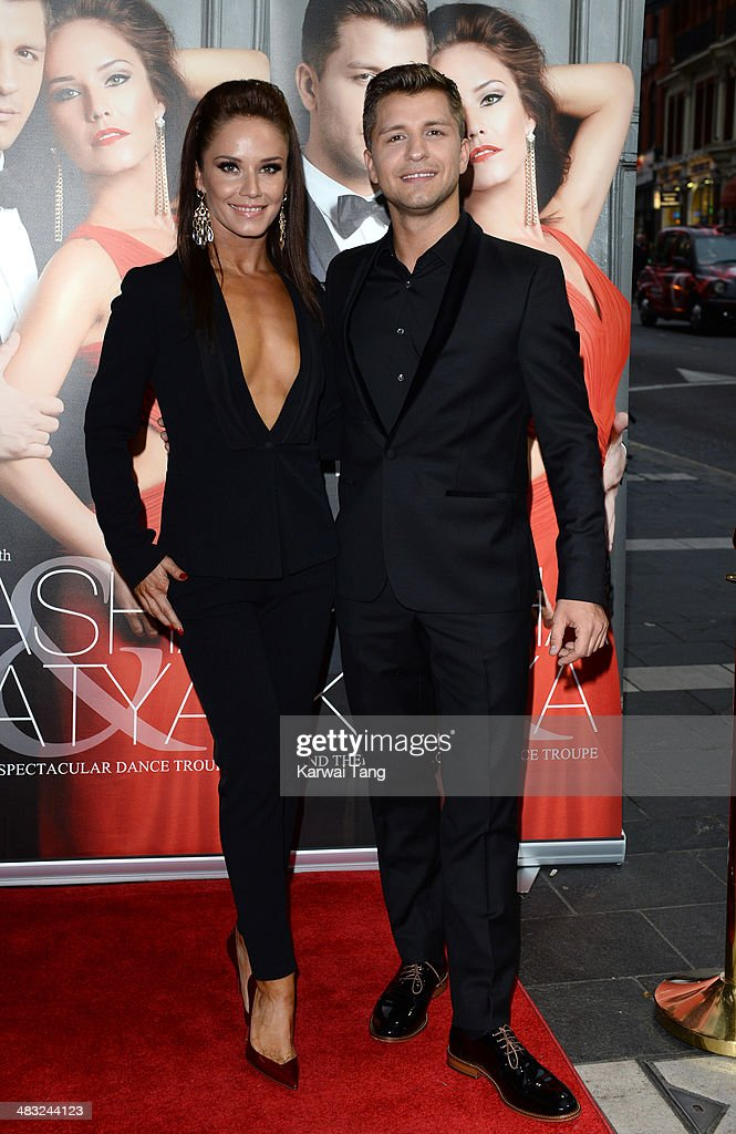 Katya Virshilas and Pasha Kovalev attend the VIP preview evening for 'Katya & Pasha' held at the Lyric Theatre on April 7, 2014 in London, England.