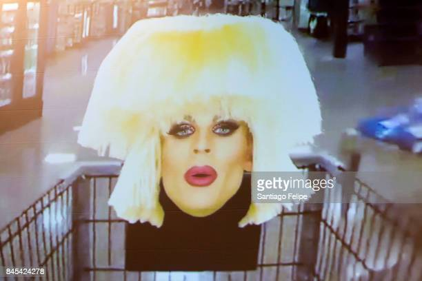 Katya Zamolodchikova makes a special video appearance during RuPaul's DragCon NYC 2017 at The Jacob K Javits Convention Center on September 10 2017...