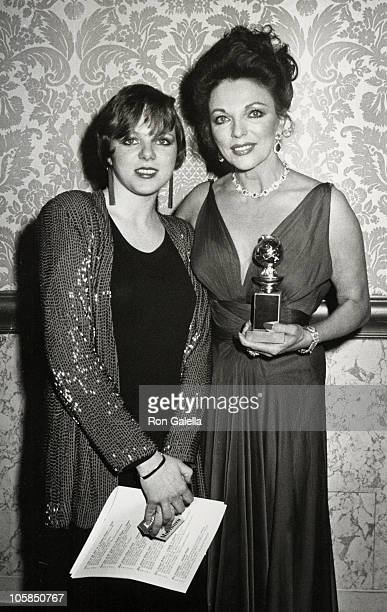 Katyana Kass and Joan Collins during 40th Annual Golden Globe Awards at Beverly Hilton Hotel in Beverly Hills CA United States