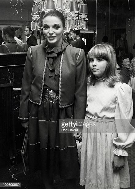 Katyana Kass and Joan Collins during Young Musicians Foundation's MotherDaughter Fashion Show March 10 1982 at Beverly Hills Hotel in Beverly Hills...