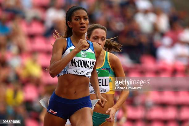 KatyAnn McDonald of Great Britain in action during heat 2 of the women's 800m semi final on day two of The IAAF World U20 Championships on July 11...
