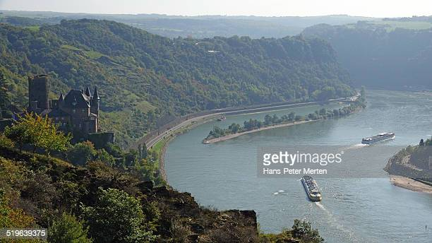Katz Castle and Loreley, Rhine Valley, Germany