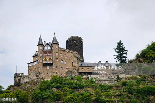 katz castle in st. goarhausen, germany - ogphoto stock photos and pictures