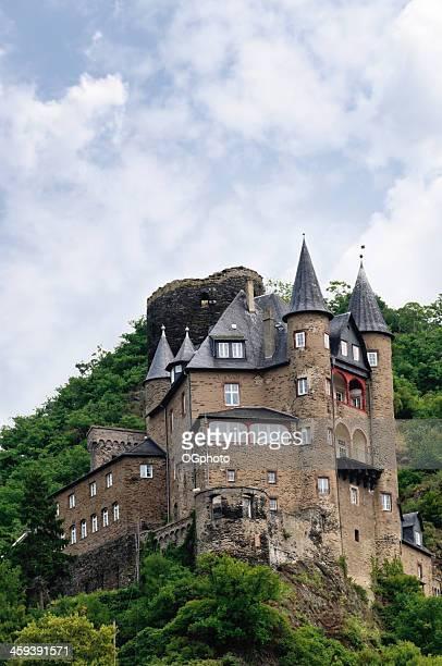 castello di katz in st. goarhausen, germania - ogphoto foto e immagini stock