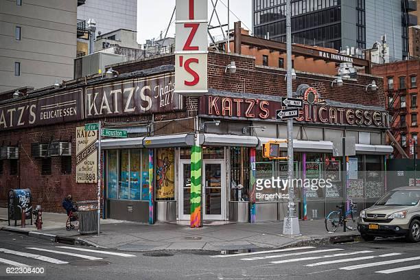katz delicatessen, new york city, united states - delicatessen stock photos and pictures