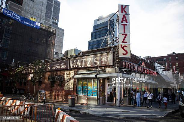 Katz's Deli the iconic New York deli is seen on August 29 2014 in New York City Katz's deli recently sold the air rights to above their building...