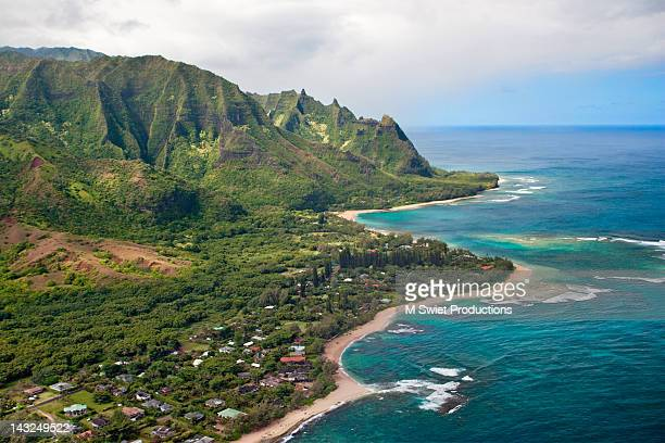kauai coast - na pali coast stock photos and pictures