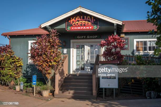 kauai coffee company gift shop - brycia james stock pictures, royalty-free photos & images