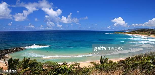 Kauai Hawaii turquoise sea surf beach tropical style scenic