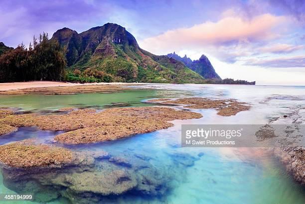 kauai sunset - kauai stock pictures, royalty-free photos & images