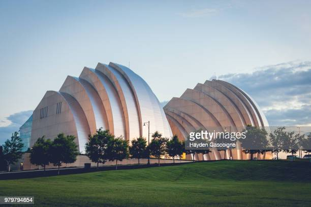 kauffman center for the performing arts, kansas city, missouri, usa - performing arts center stock photos and pictures