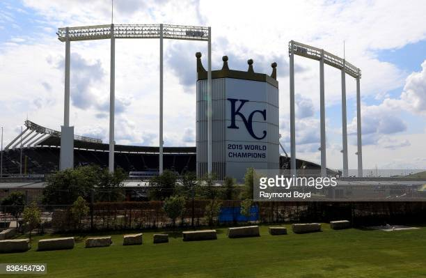 Kauffman Stadium home of the Kansas City Royals baseball team in Kansas City Missouri on August 12 2017