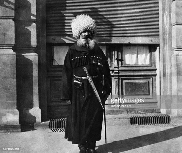 Kaukasische Typen TartarenAnführer aus Tiflis 1905veröffentlicht Berliner Illustrirte Zeitung BIZ 40/1905