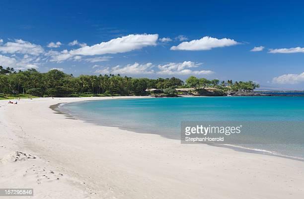 kauna'oa spiaggia, le isole hawaii - baia foto e immagini stock