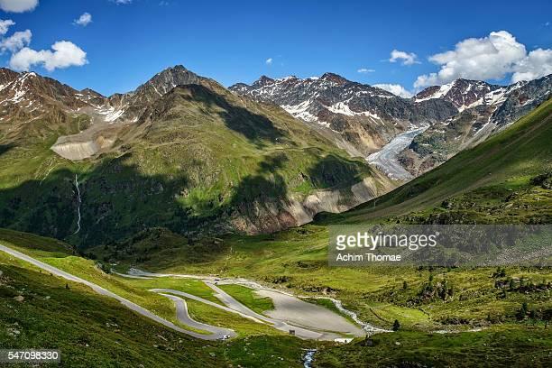 Kaunertal Glacier Road, Tyrol, Austria - View to Gepatsch Glacier
