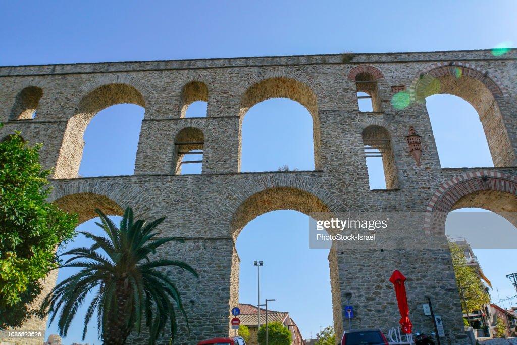 Kavala Aqueduct,  Macedonia, Greece : Stock Photo