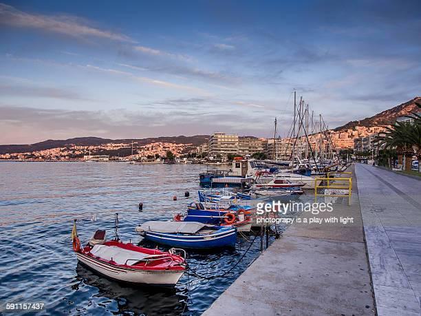 Kavala sunrise boats