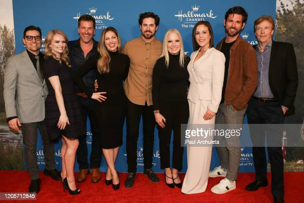 Kavan Smith Andrea Brooks Paul Greene Pascale Hutton Chris McNally Michelle Vicary Erin Krakow Kevin McGarry and Jack Wagner attend the Hallmark...