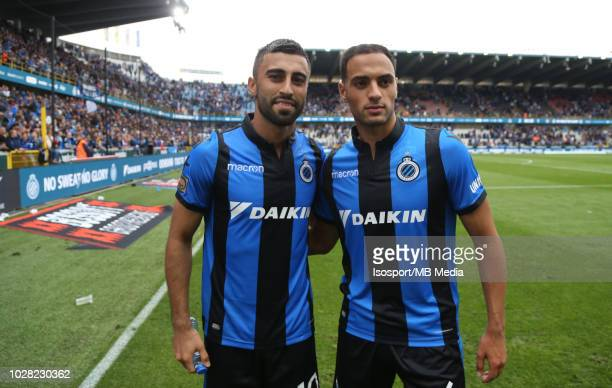 Kaveh Rezaei and Sofyan Amrabat pictured during the Jupiler Pro League match day 5 between Club Brugge and Rsc Anderlecht on August 26 2018 in Brugge...