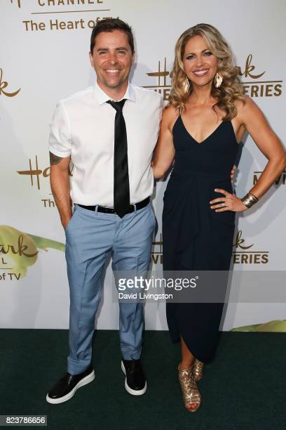 Kaven Smith and Pascale Hutton attend the Hallmark Channel and Hallmark Movies and Mysteries 2017 Summer TCA Tour on July 27 2017 in Beverly Hills...