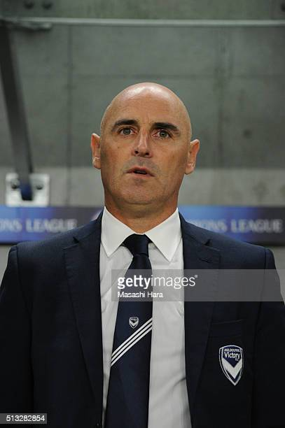 Kavin Muscatcoach of Melbourne Victory looks on prior to the AFC Champions League Group G match between Gamba Osaka and Melbourne Victory at Suita...