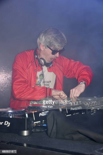 Kavinsky aka Vincent Belorgey performs during the Villa Schweppes Kavinsky Party at Grand Palais 70th annual Cannes Film Festival at Palais des...