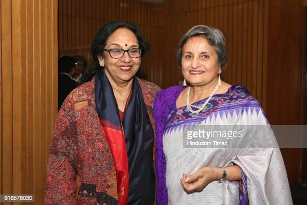 Kavita A Sharma and Indu Ramchandani during a launch of scholar Kavita A Sharma's book 'Life is As is Teachings from the Mahabharata' coauthored by...