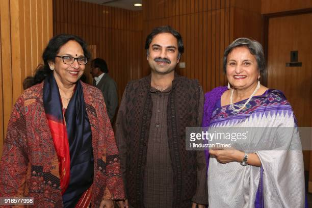 Kavita A Sharma Shobit Arya and Indu Ramchandani during a launch of scholar Kavita A Sharma's book 'Life is As is Teachings from the Mahabharata'...