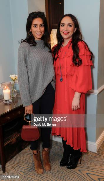 Kavita Cola and Tayla Paskin attend an exclusive preview of the Aurum Grey SS18 collection at Dukes London on November 23 2017 in London England