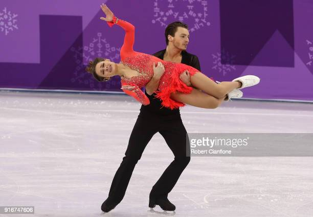 Kavita lorenz and Joti Polizoakis of Germany compete during the Figure Skating Team Event Ice Dance Short Dance on day two of the PyeongChang 2018...
