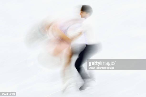 Kavita Lorenz and Joti Polizoakis of Germany compete in the Figure Skating Ice Dance Free Dance on day eleven of the PyeongChang 2018 Winter Olympic...