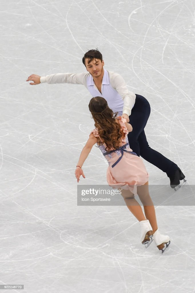 Kavita Lorenz and Joti Polizoakis (GER) skate in the free dance of the Ice Dancing competition during the 2018 Winter Olympic Games at the Gangneung Ice Arena on February 20, 2018 in PyeongChang, South Korea.